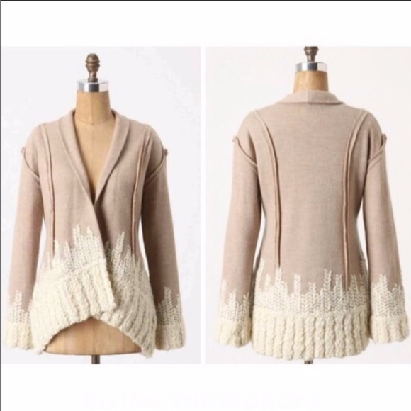 Anthropologie Sweaters - Anthropologie Tabitha Rising Snowdrops cardigan